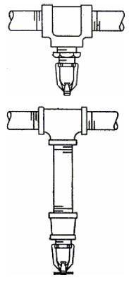 Схемы монтажа распылителей типа АМ 4 и АМ 25